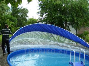 zavírání zastřešení bazénu TROPIKO